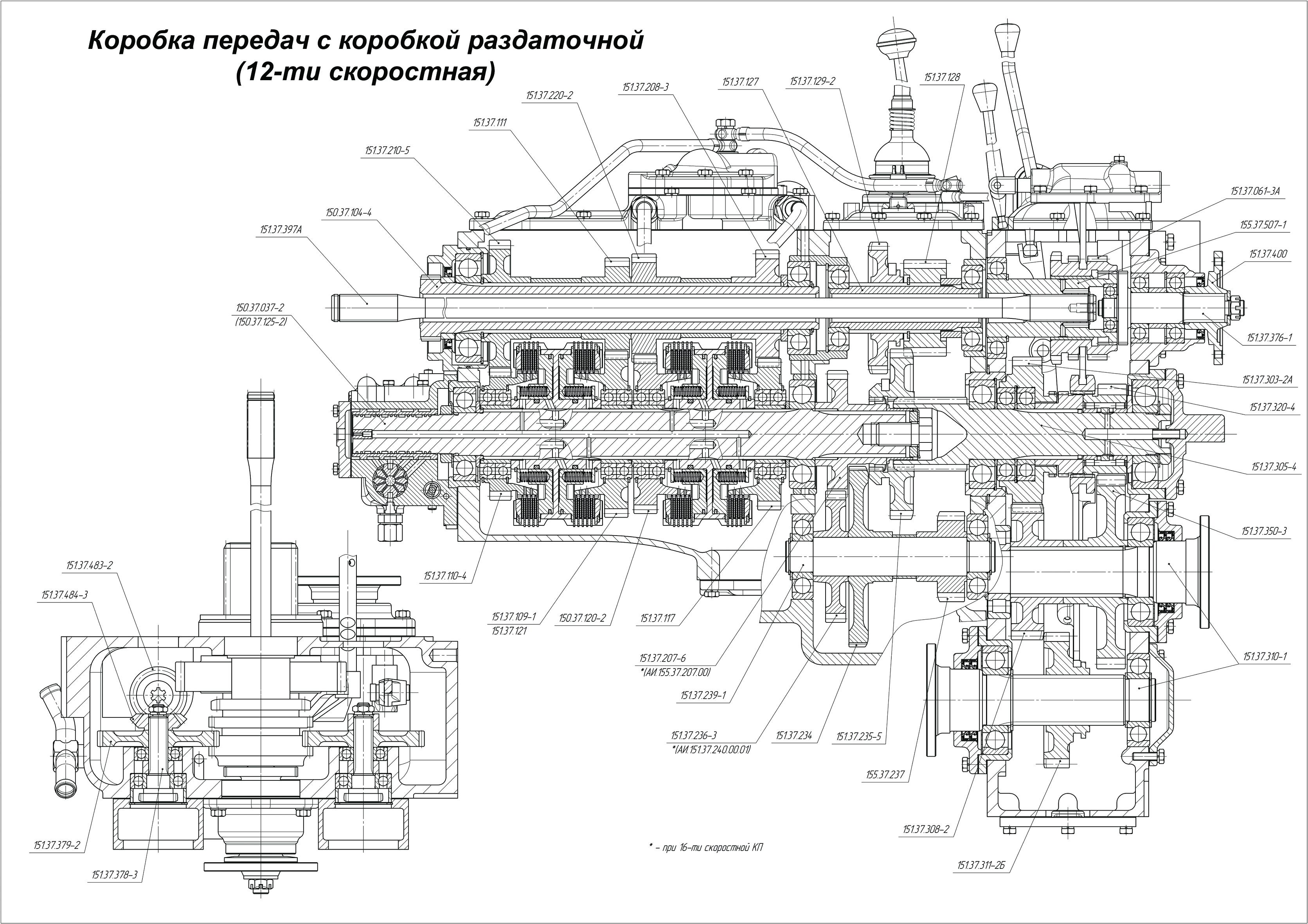 Схема коробки передач трактора фото 489